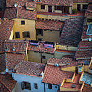 Tuscan Rooftops Poster by Inge Johnsson