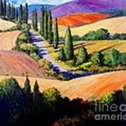 Tuscan Trail Poster by Michael Swanson