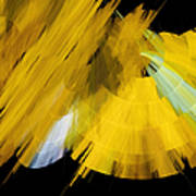 Tutu Stage Left Abstract Yellow Poster by Andee Design