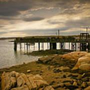 Twilight Cape Porpoise Maine Poster by Bob Orsillo