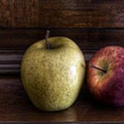 Two Apples Poster by Leonardo Marangi
