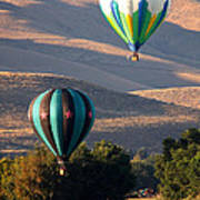 Two Balloons In Morning Sunshine Poster by Carol Groenen