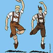 Two Bavarian Lederhosen Men Poster by Frank Ramspott