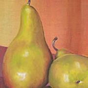 Two Yellow Pears Blenda Studio Poster by Blenda Studio