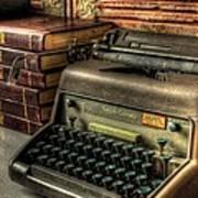 Typewriter Poster by David Morefield
