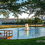 Umatilla Fountain Pond Poster by Robert Bales