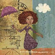 Umbrella Girl Poster by Karyn Lewis Bonfiglio