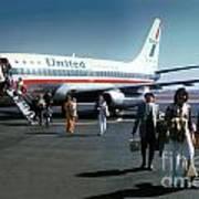 United Airlines Ual Boeing 737-222 N9069u April 1974 Poster by Wernher Krutein