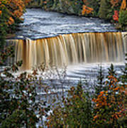 Upper Tahquamenon Falls  Poster by Todd Bielby
