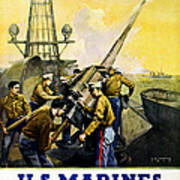 Us Marines Poster by Leon Alaric Shafer