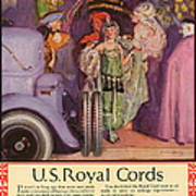 Us Royal Cords 1924 1920s Usa Cc Cars Poster by The Advertising Archives