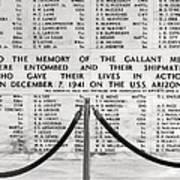 U.s.s. Arizona Pearl Harbor Memorial Poster by Barbara West