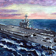Uss George H.w. Bush Poster by Sarah Howland-Ludwig