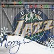 Utah Jazz Poster by Joe Hamilton