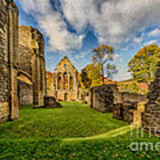 Valle Crucis Abbey Ruins Poster by Adrian Evans