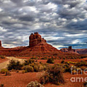 Valley Of The Gods Stormy Clouds Poster by Robert Bales