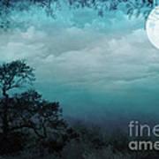 Valley Under Moonlight Poster by Bedros Awak