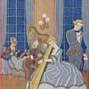 Valmont Seducing His Victim Poster by Georges Barbier