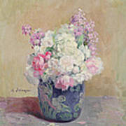 Vase Of Flowers Poster by Henri Lebasque