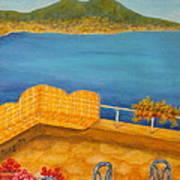 Veduta Di Vesuvio Poster by Pamela Allegretto