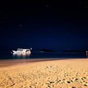 Velvet Night On The Island Poster by Jenny Rainbow