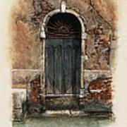 Venetian Door 01 Elena Yakubovich Poster by Elena Yakubovich