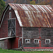 Vermont Barn Art Poster by Juergen Roth