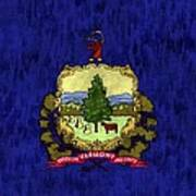 Vermont Flag Poster by World Art Prints And Designs