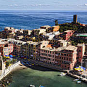 Vernazza From Above Poster by George Oze