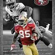Vernon Davis 49ers Poster by Joe Hamilton