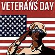 Veterans Day Greeting Card American Poster by Aloysius Patrimonio