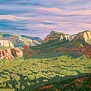 View From Airport Mesa - Sedona Poster by Steve Simon