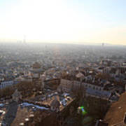 View From Basilica Of The Sacred Heart Of Paris - Sacre Coeur - Paris France - 011314 Poster by DC Photographer