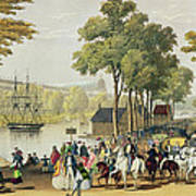 View From The North Bank Of The Serpentine Poster by Philip Brannan