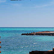 View Through The Walls Of Fort Jefferson Poster by John M Bailey