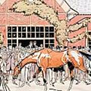 Viewing The Racehorse In The Paddock Poster by Thelem