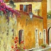 Village In Provence Poster by Chris Brandley