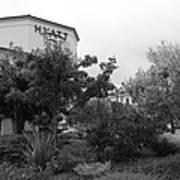 Vineyard Creek Hyatt Hotel Santa Rosa California 5d25795 Bw Poster by Wingsdomain Art and Photography