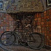 Vintage Bicycle Poster by Susan Candelario