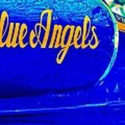 Vintage Blue Angel Poster by Benjamin Yeager