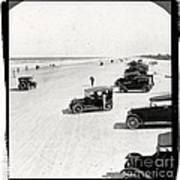 Vintage Daytona Beach Florida Poster by Edward Fielding