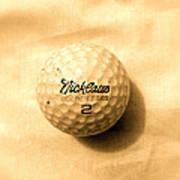 Vintage Golf Ball Poster by Anita Lewis