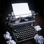 Vintage Manual Typewriter Poster by Edward Fielding