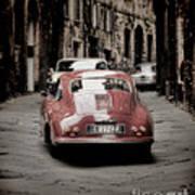Vintage Porsche Poster by Karen Lewis