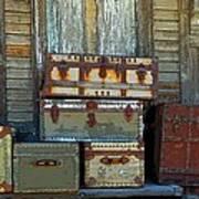 Vintage Trunks   Sold Poster by Marcia Lee Jones