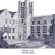 Virginia Tech Poster by Frederic Kohli
