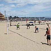 Volleyball At The Santa Cruz Beach Boardwalk California 5d23837 Poster by Wingsdomain Art and Photography