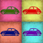 Vw Beetle Pop Art 1 Poster by Naxart Studio