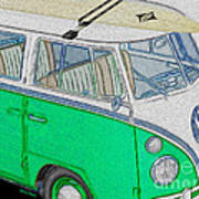 Vw Surf Bus Poster by Cheryl Young