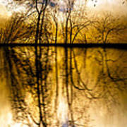 Walk Along The River Poster by Bob Orsillo